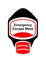 Emergency Escape Mask Sign, © Egress Group 9