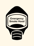 Emergency Escape Smoke Hood Mask Sign, © Egress Group 1