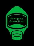 Emergency Escape Smoke Hood Mask Sign, © Egress Group 12