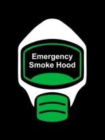 Emergency Escape Smoke Hood Mask Sign, © Egress Group 13