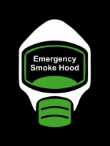 Emergency Escape Smoke Hood Mask Sign, © Egress Group 14