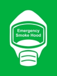 Emergency Escape Smoke Hood Mask Sign, © Egress Group 15
