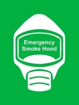 Emergency Escape Smoke Hood Mask Sign, © Egress Group 15