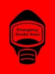 Emergency Escape Smoke Hood Mask Sign, © Egress Group 17