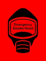 Emergency Escape Smoke Hood Mask Sign, © Egress Group 17