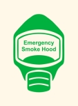 Emergency Escape Smoke Hood Mask Sign, © Egress Group 3