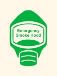 Emergency Escape Smoke Hood Mask Sign, © Egress Group 3
