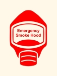 Emergency Escape Smoke Hood Mask Sign, © Egress Group 4