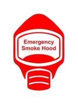 Emergency Escape Smoke Hood Mask Sign, © Egress Group 5