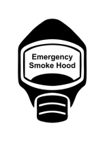 Emergency Escape Smoke Hood Mask Sign, © Egress Group 6